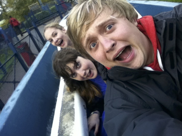 The three of us on the Flume