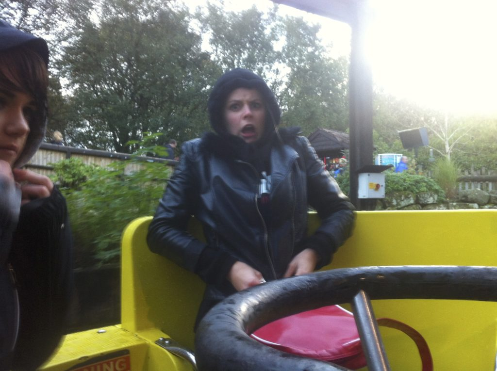 Rena having fun on the River Rapids