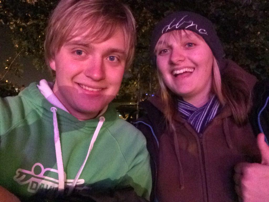 Me and Danni at Bonfire Night in Leeds