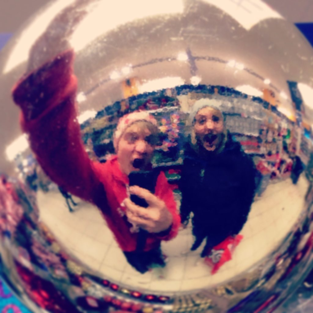 Me and Danni in bauble