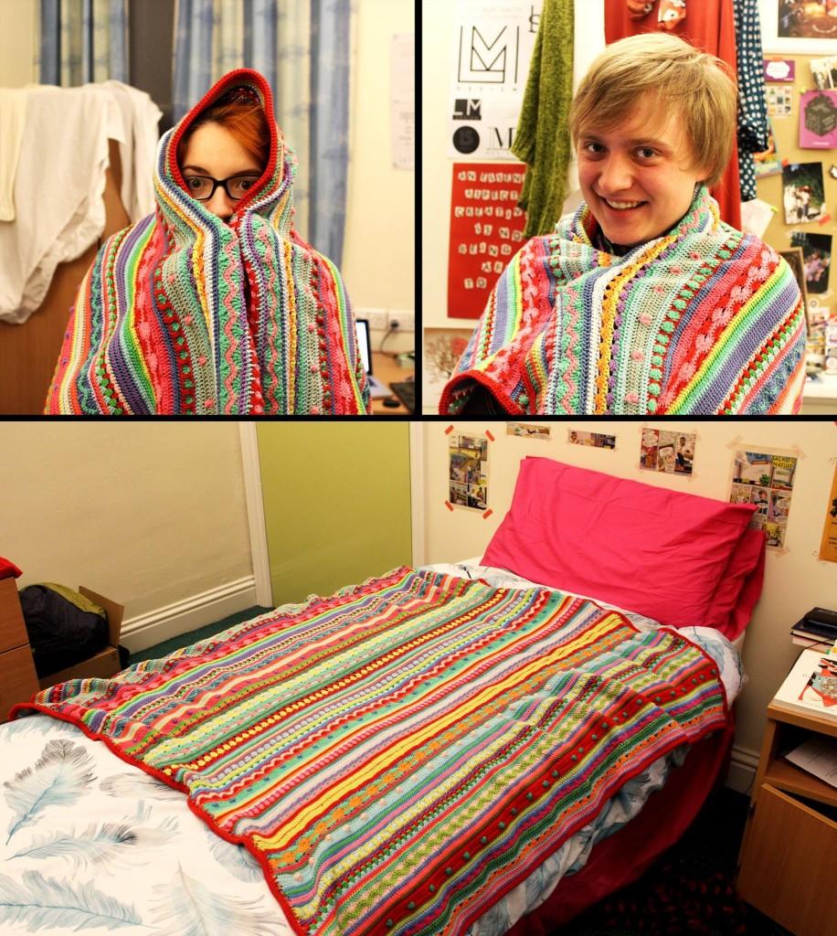 Luisa's amazing new blanket from her mum