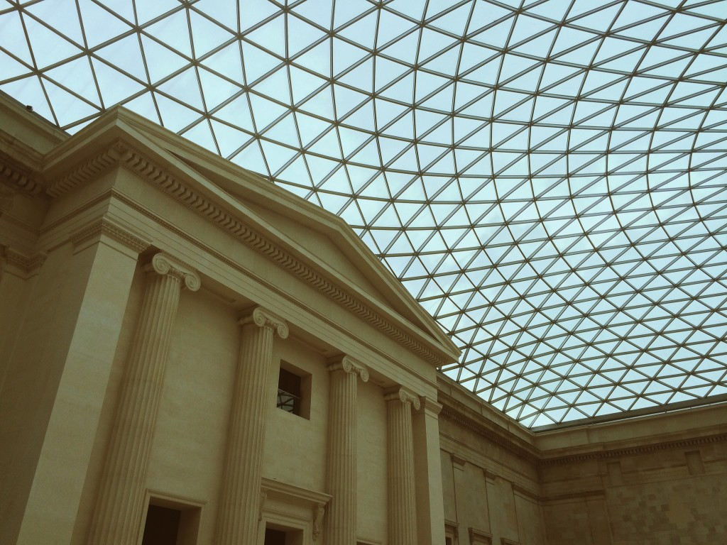 Beautiful architecture in the British Museum's courtyard