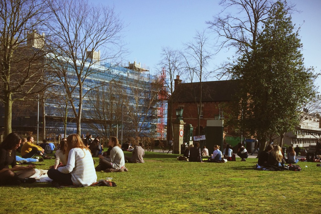 A lovely sunny day on campus