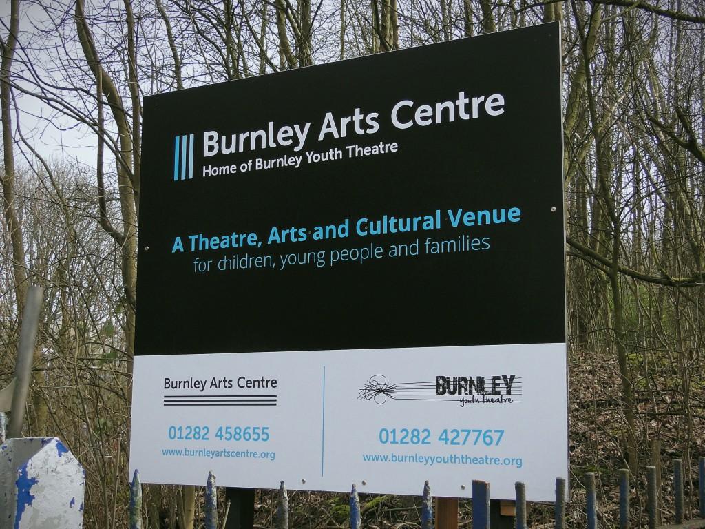 Burnley Arts Centre gate signage