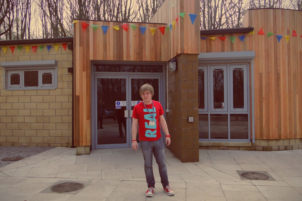 Me outside the newly opened Moira Preston Building
