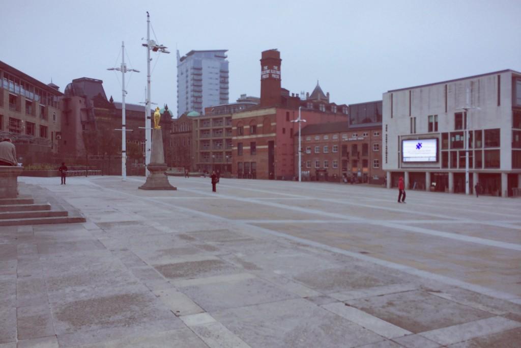 A very quiet Millennium Square