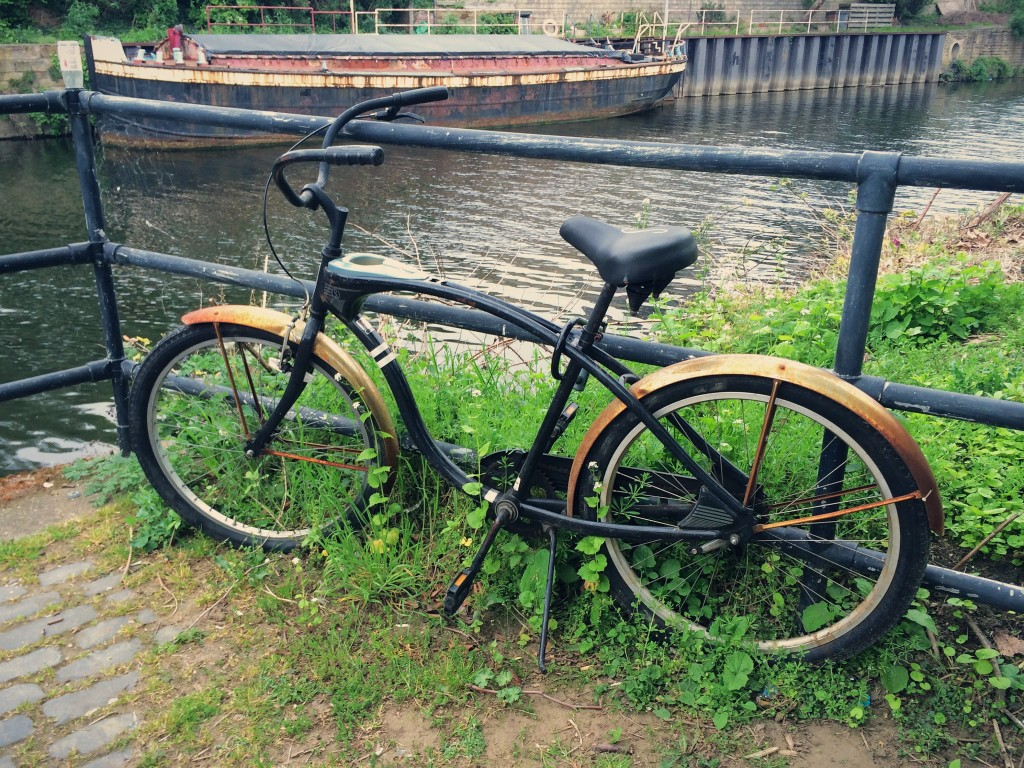 An old bike by the canal