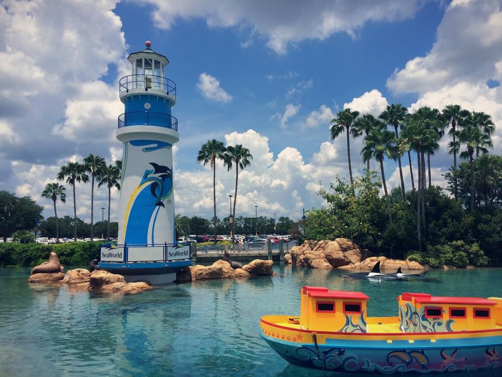 SeaWorld's lagoon