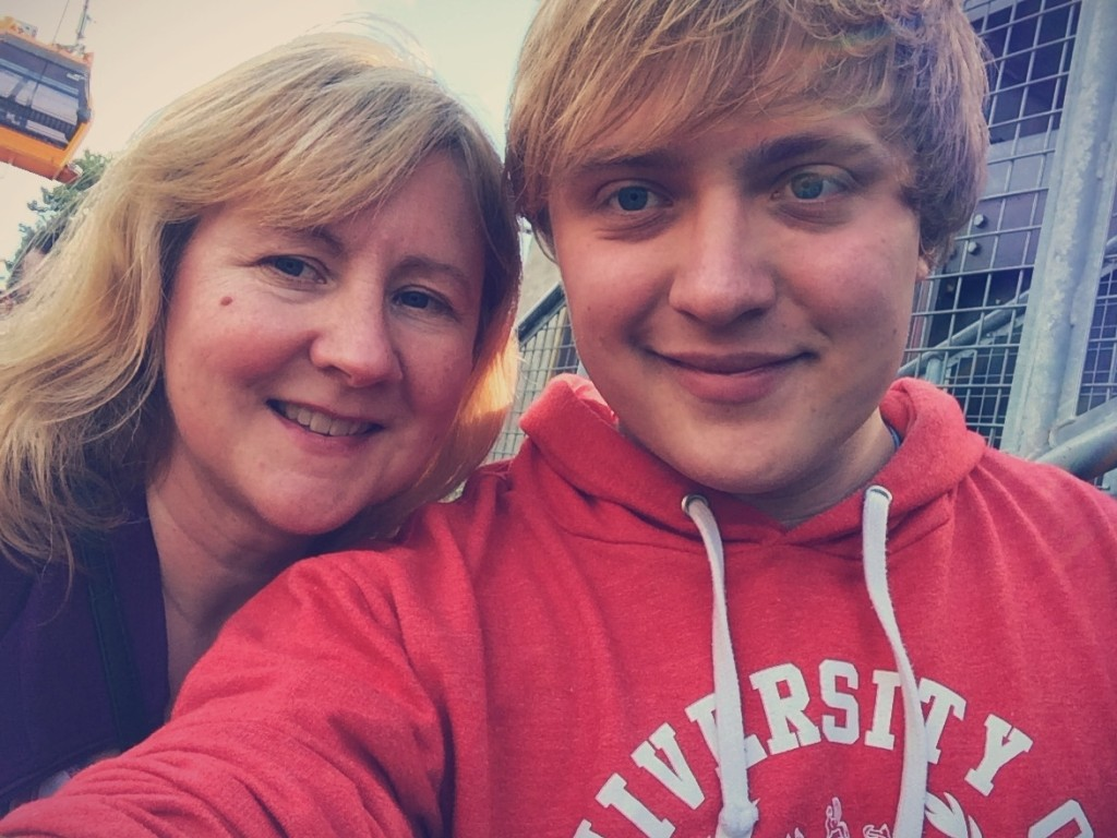 Me and my mum at Alton Towers