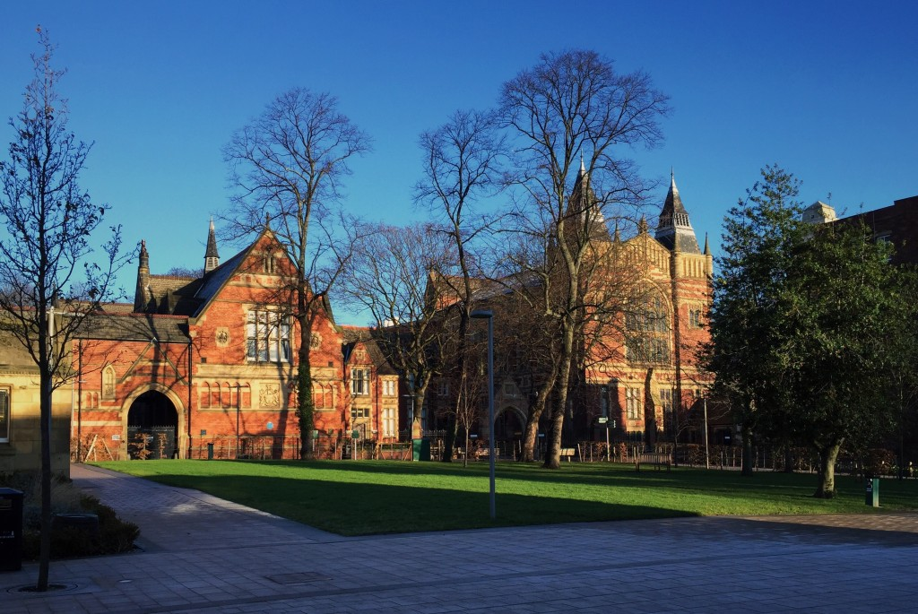 The University of Leeds campus is particularly beautiful
