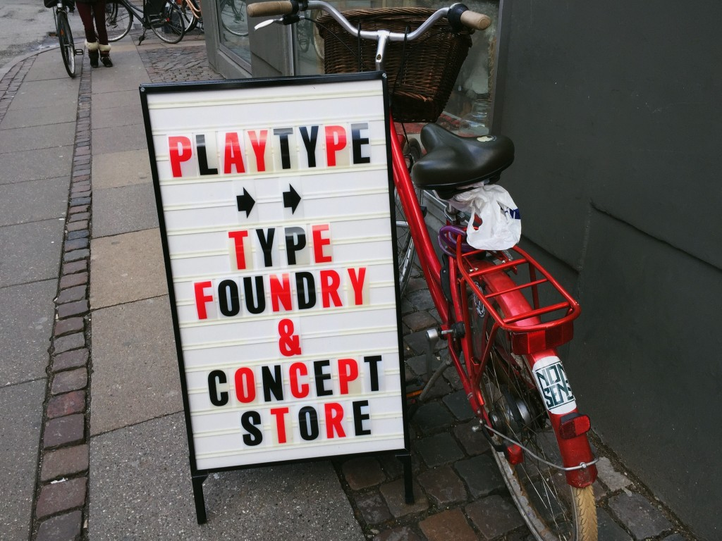 The Playtype concept store signage