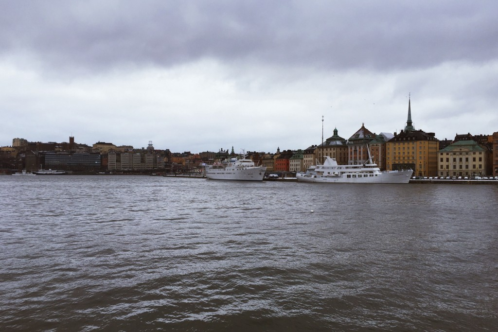 A view across the water in Stockholm