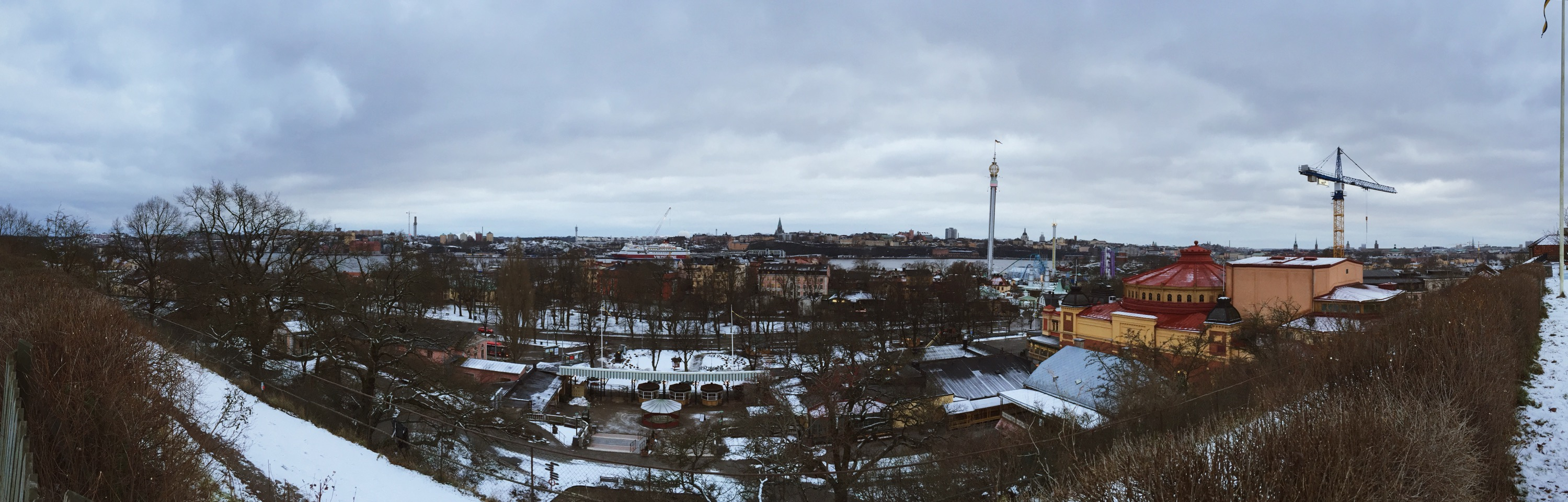 A panoramic view out from Skansen