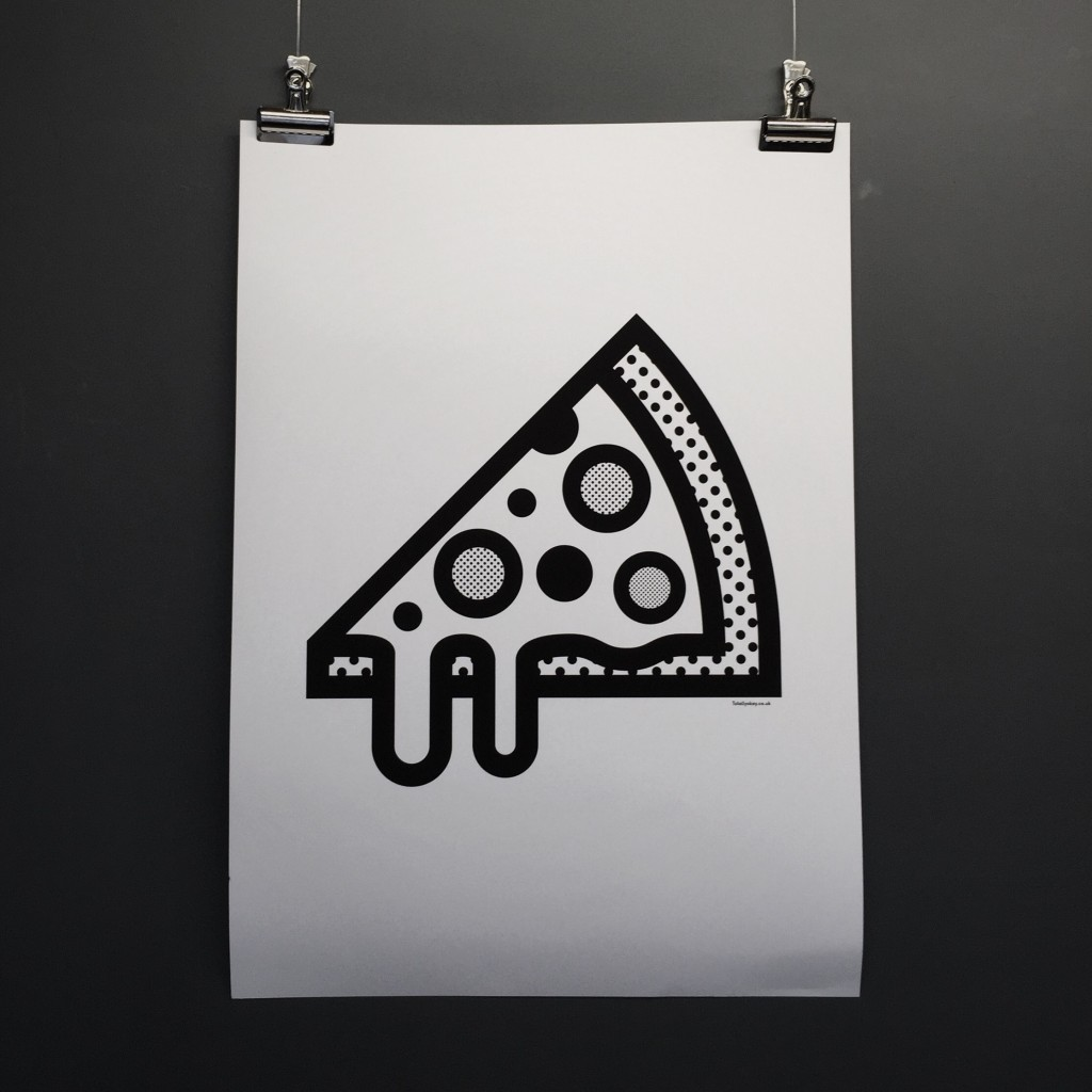 I love this because I love pizza, and the style is beautiful