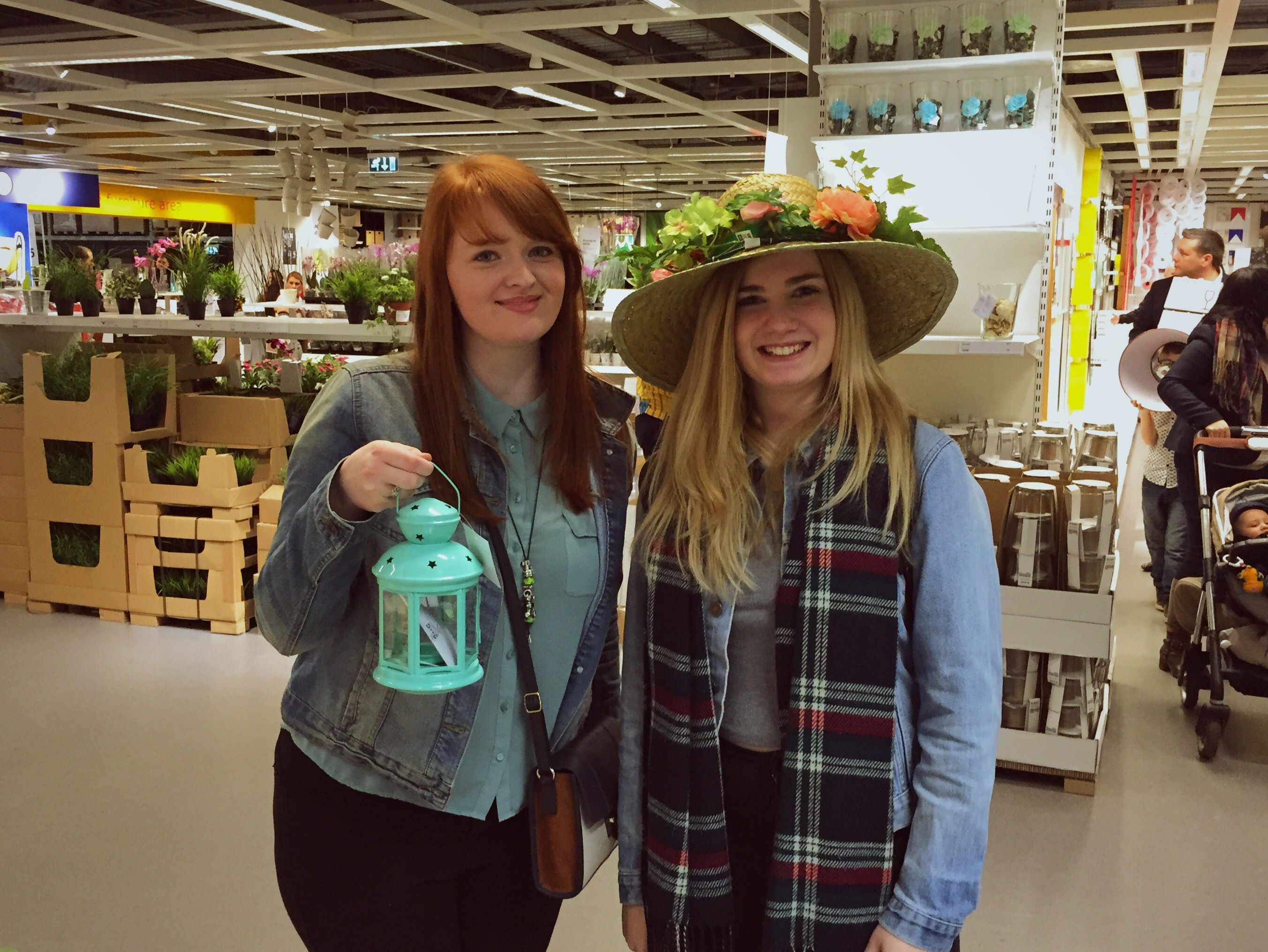 Em and Izzy in IKEA