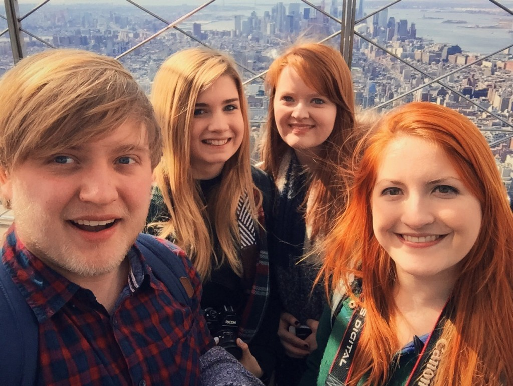 The four of us at the top of the Empire State