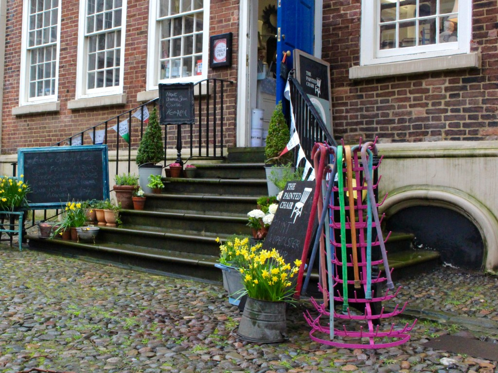 A shop in The Bluecoat's courtyard
