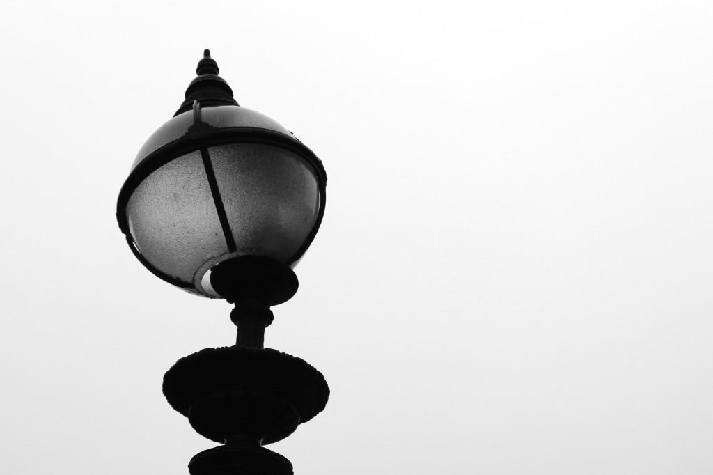 A broken streetlamp