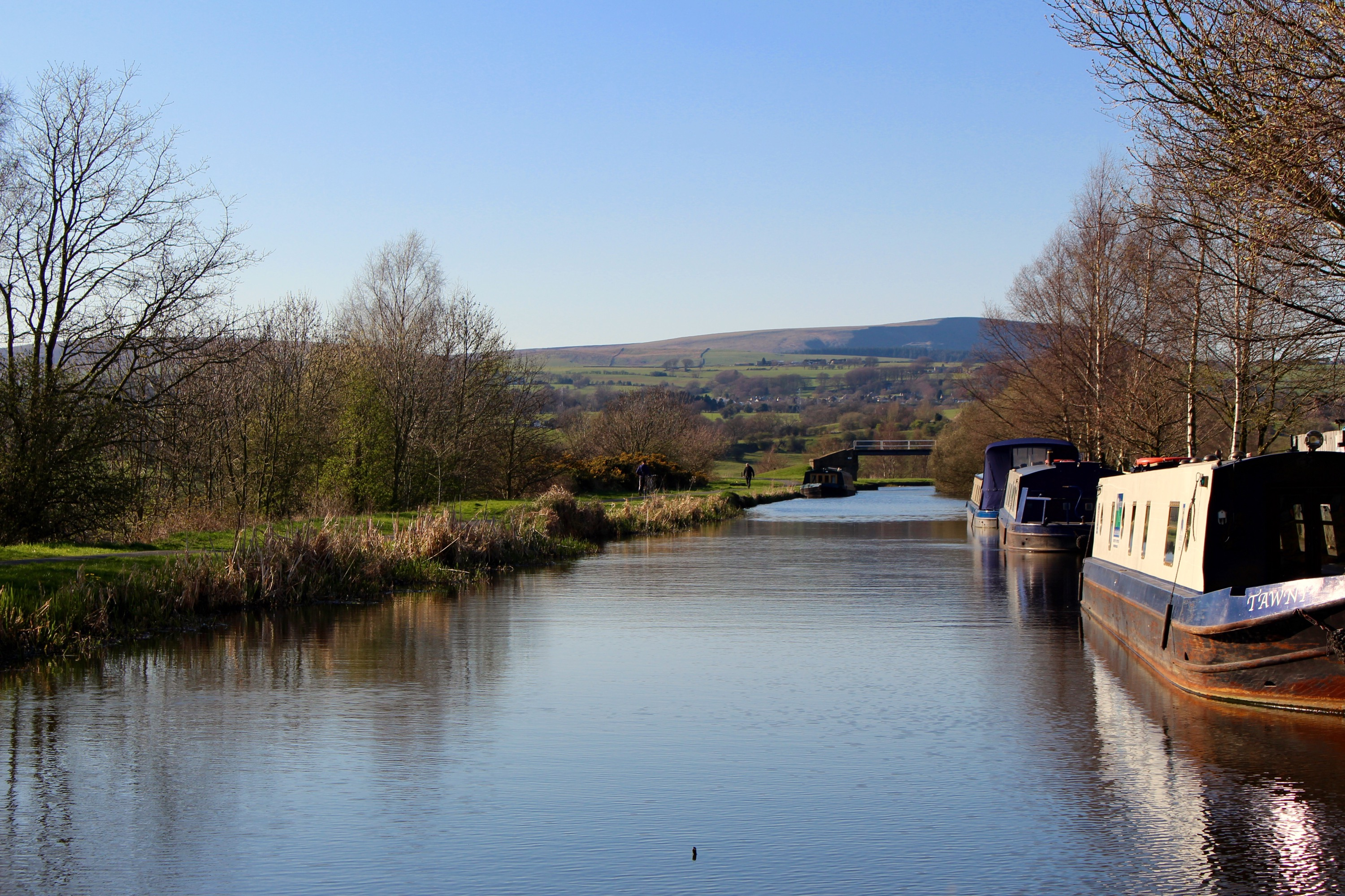 Pendle Hill over the canal