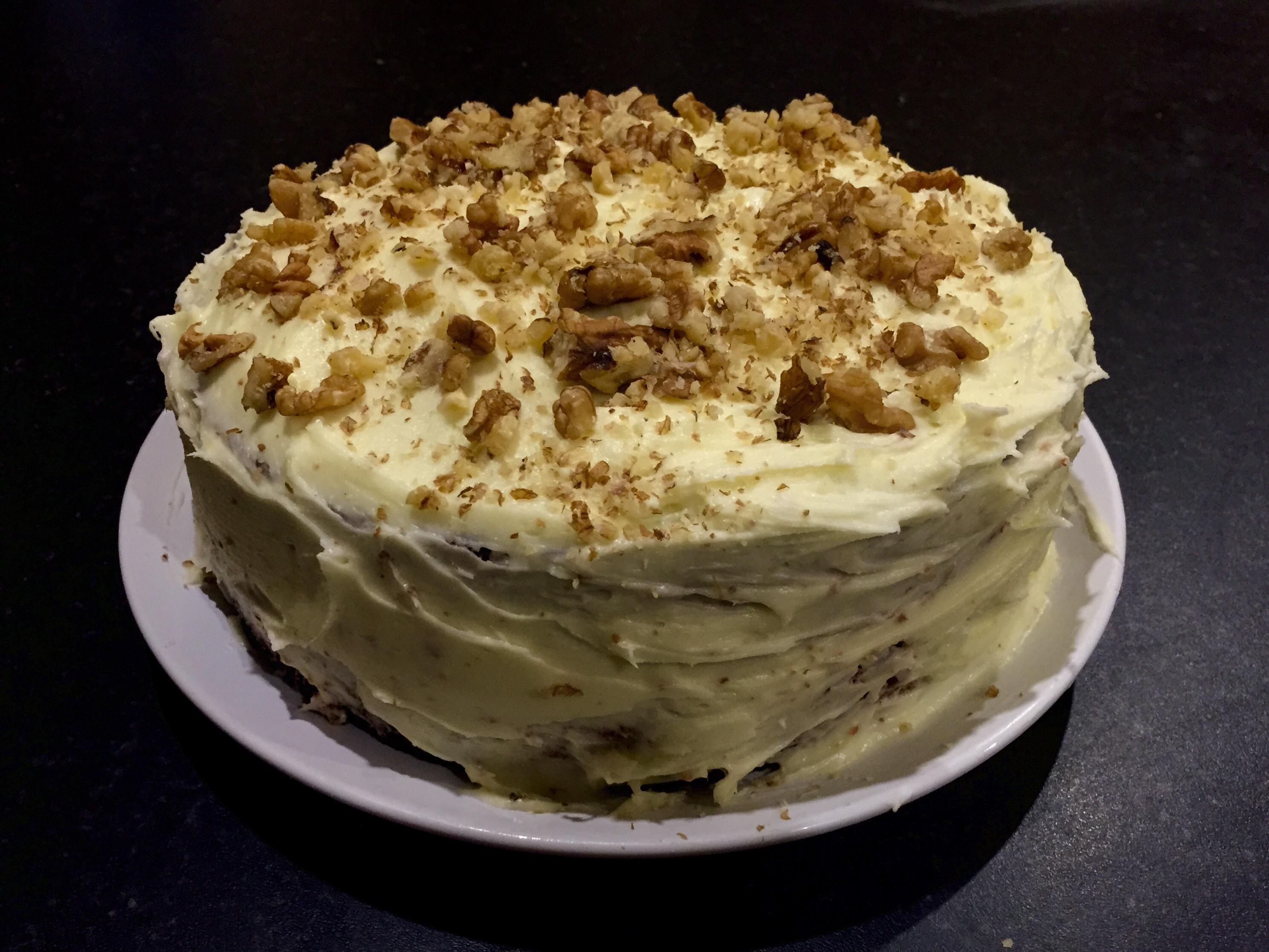 My carrot cake masterpiece