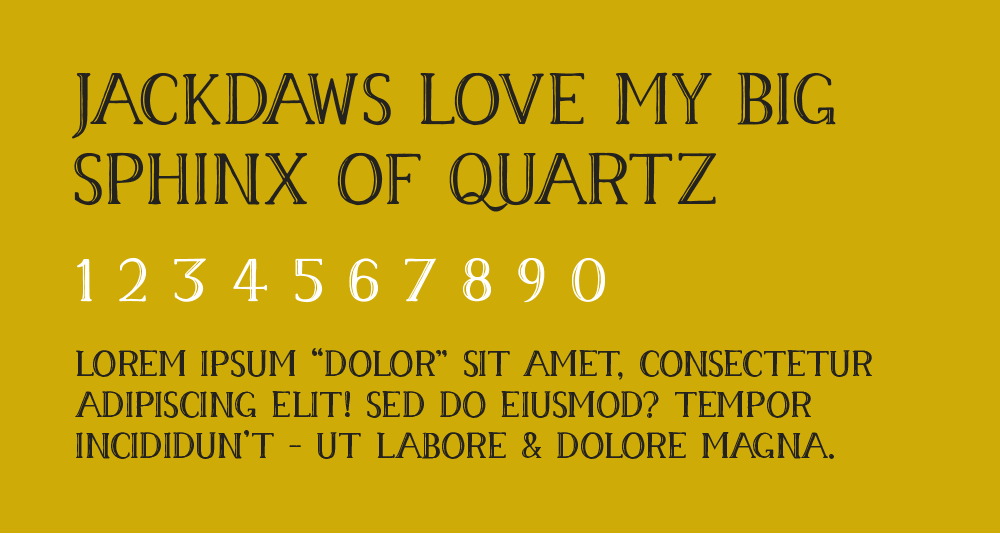 A type sample from the my typeface