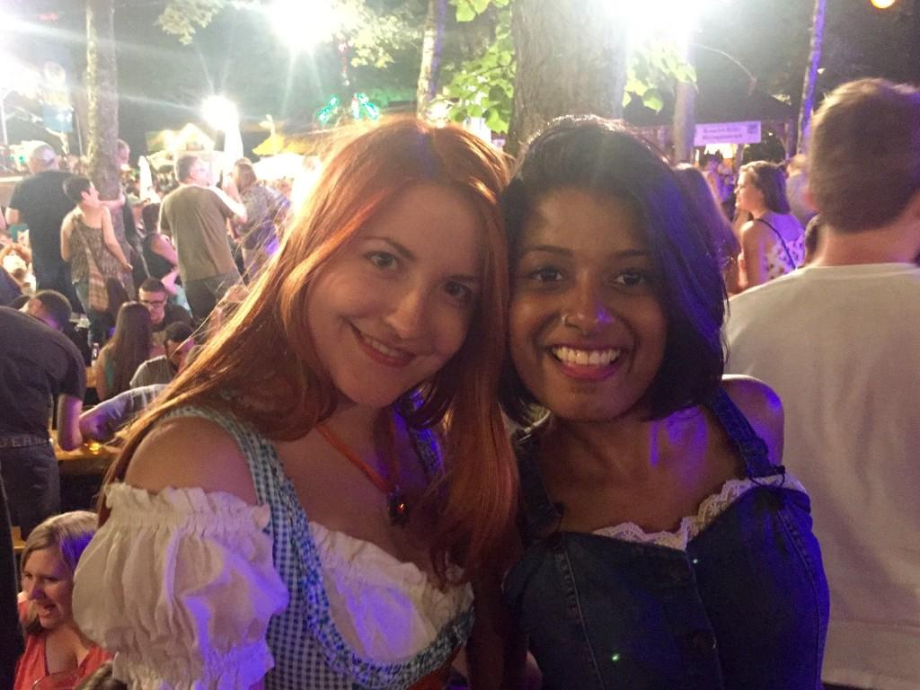 Luisa and Rhea at the Kerwa