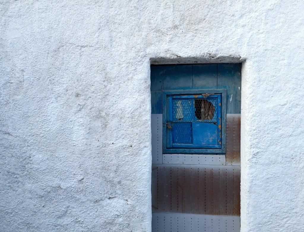 A lone door