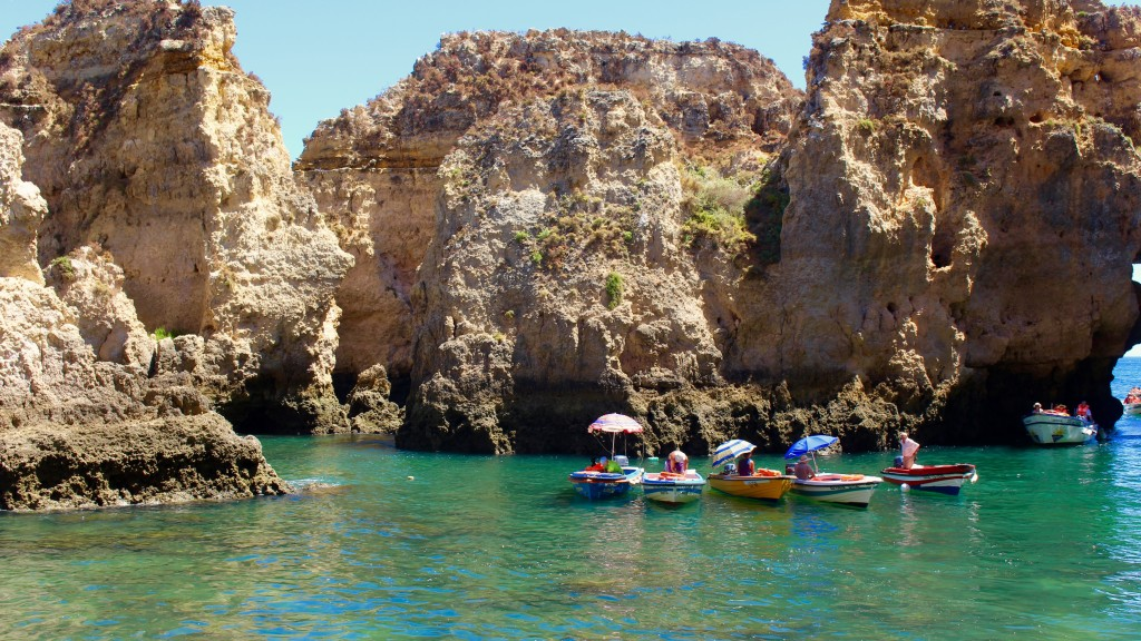 Boats in the grottos