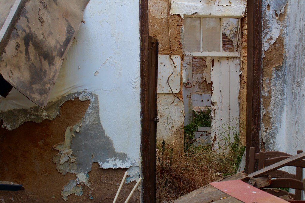Into a derelict house