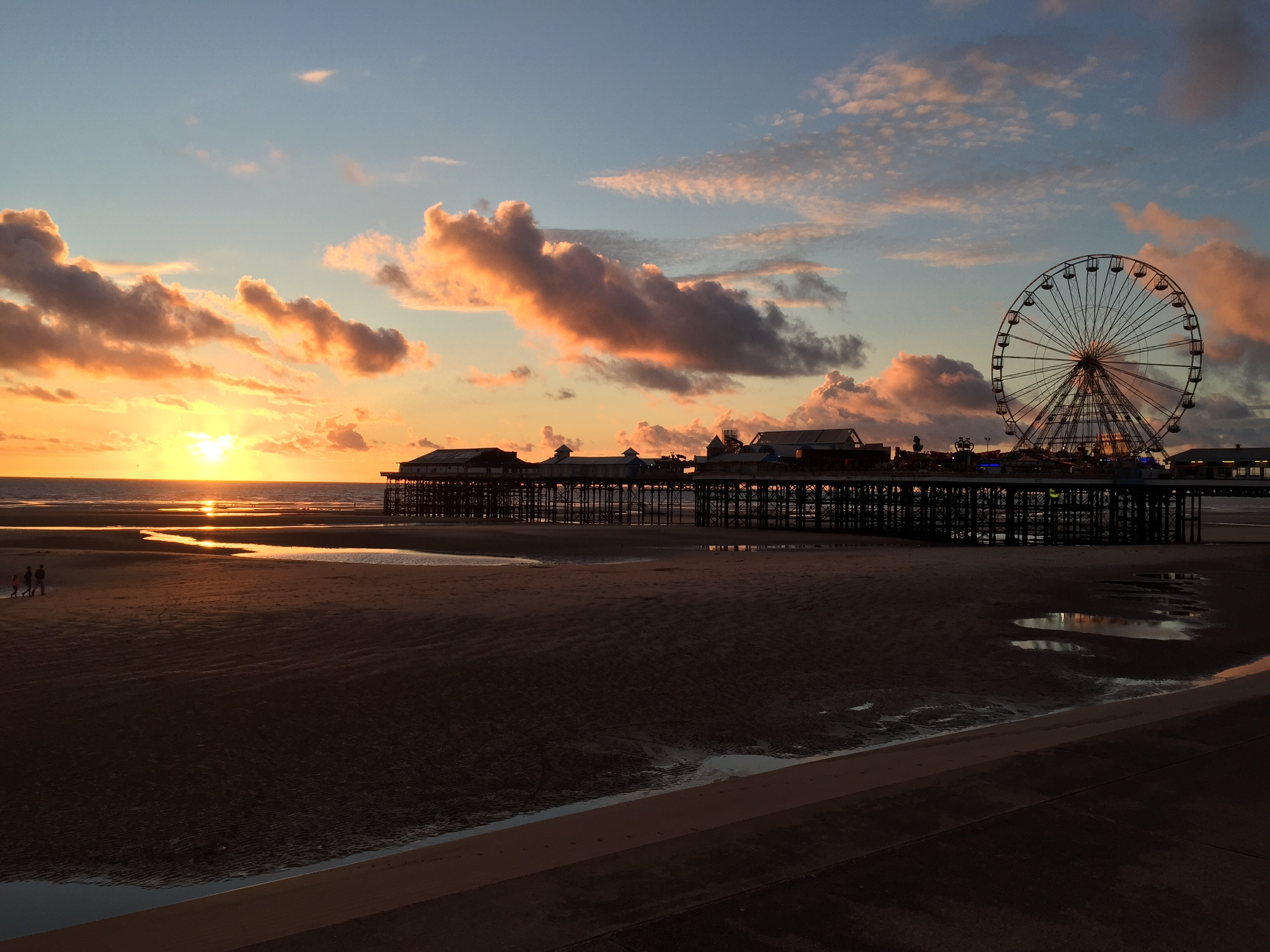 Central Pier at sunset
