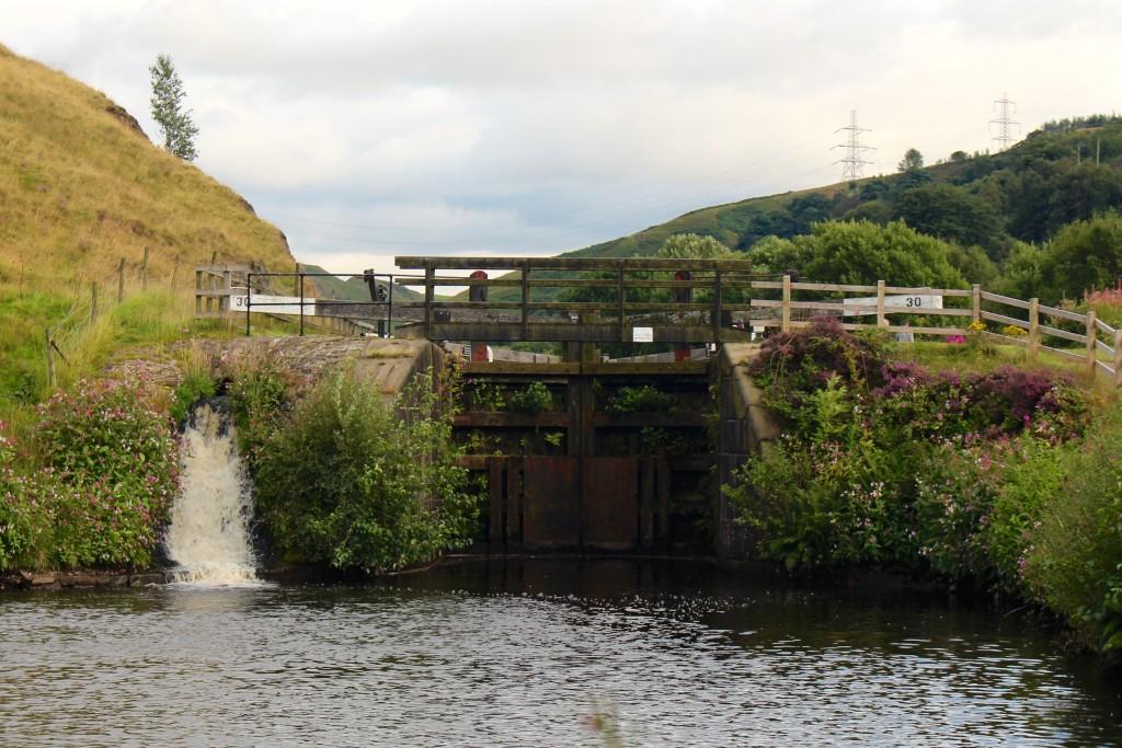 Lock and mini waterfall