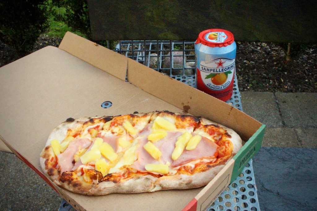 Pizza and San Pellegrino