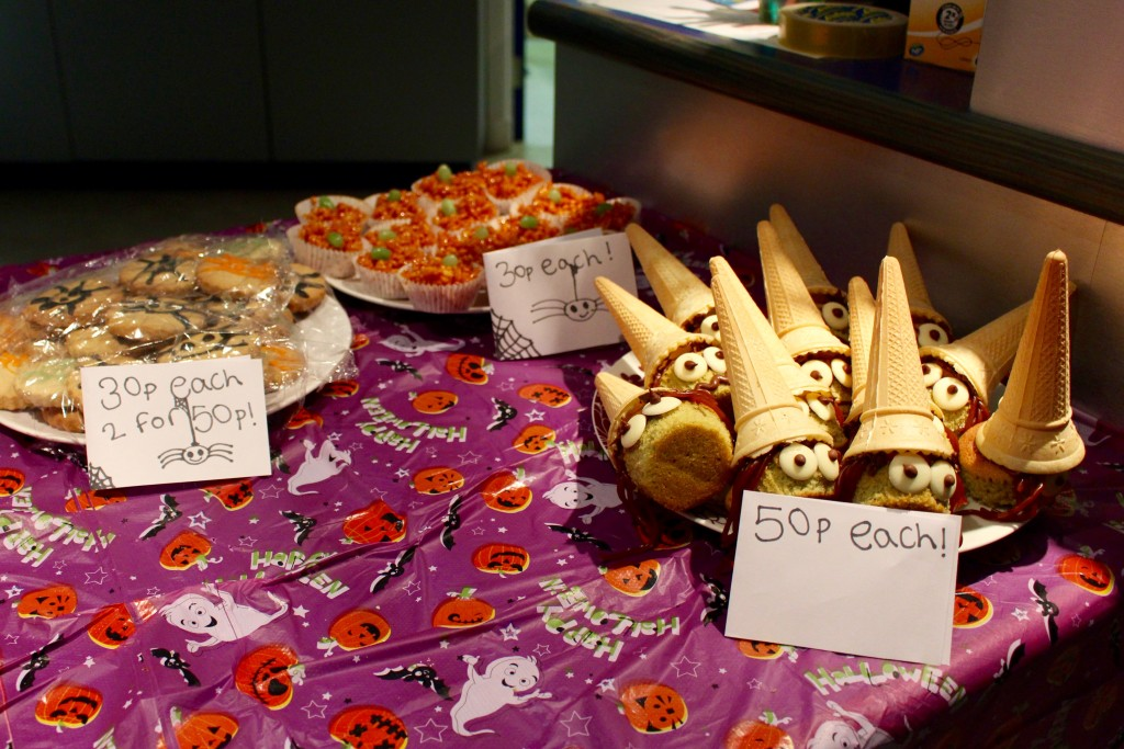Spooky snacks made by the young people