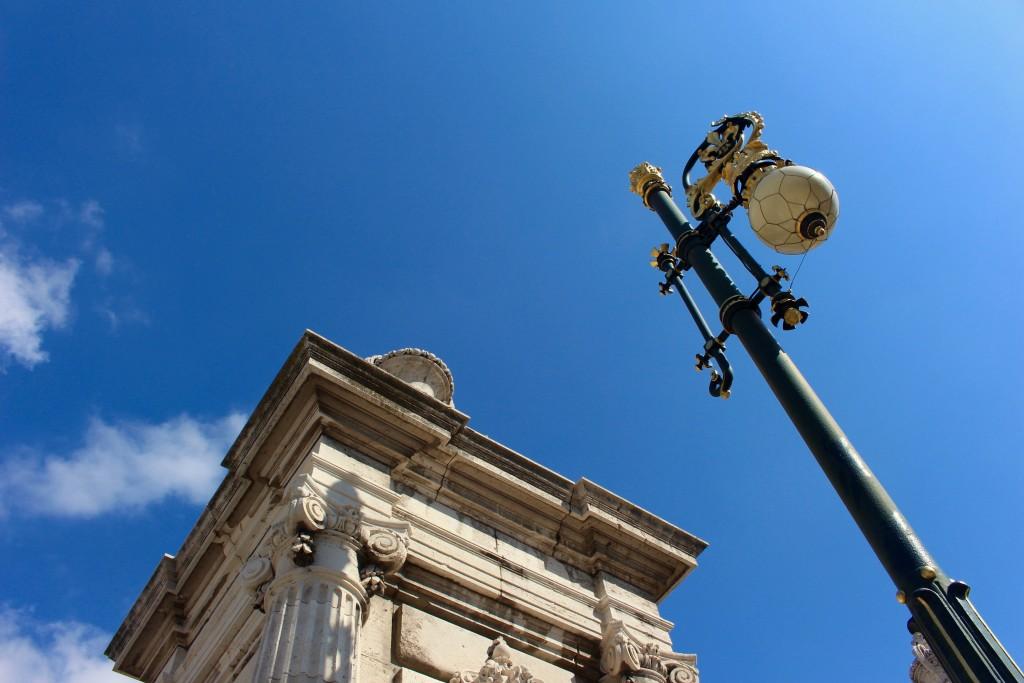 Outside the Palacio Real