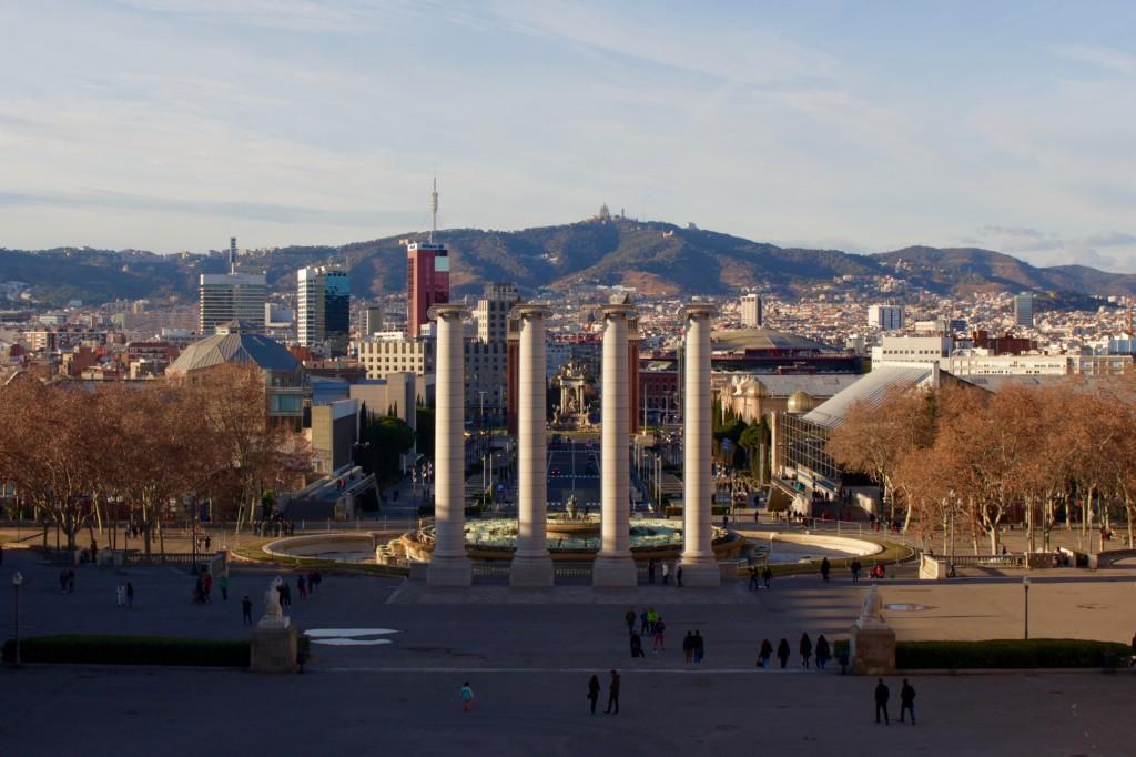 Barcelona through the columns