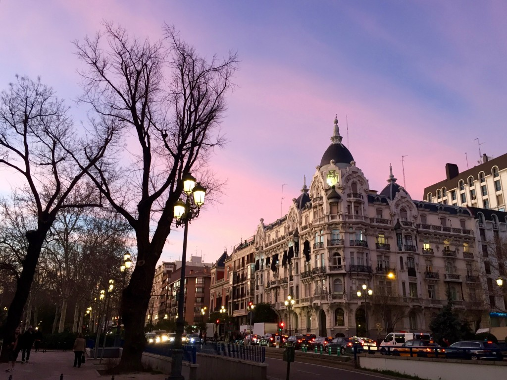 Madrid is pretty in pink