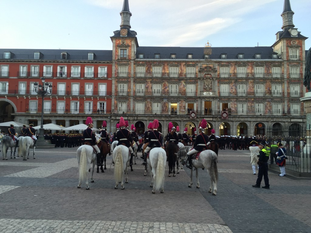 Horses in Plaza Mayor