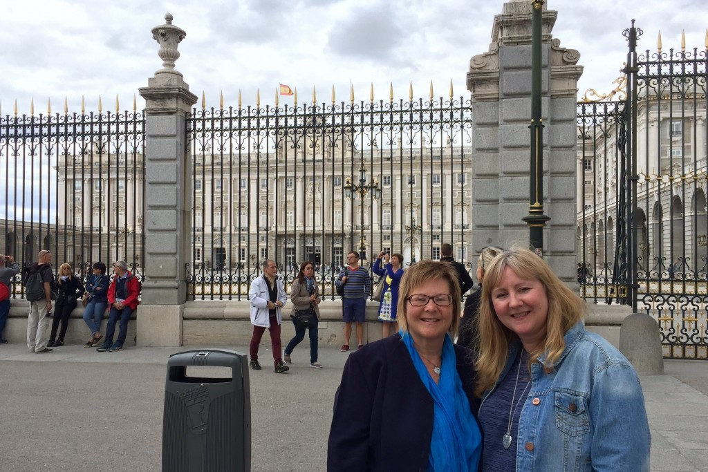 My auntie and mum by the palace