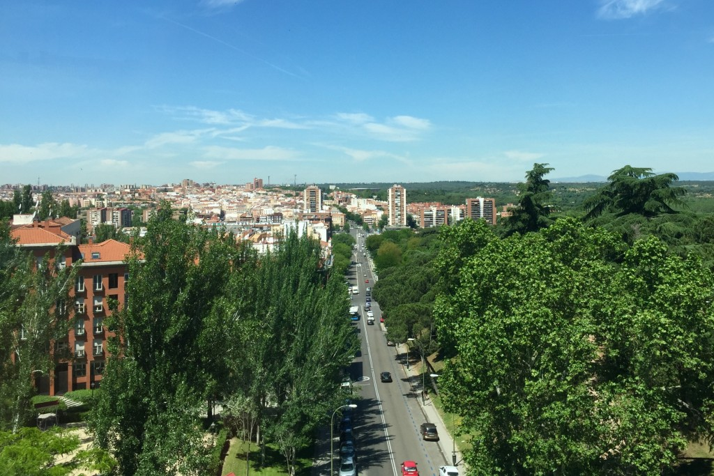 Looking over Madrid