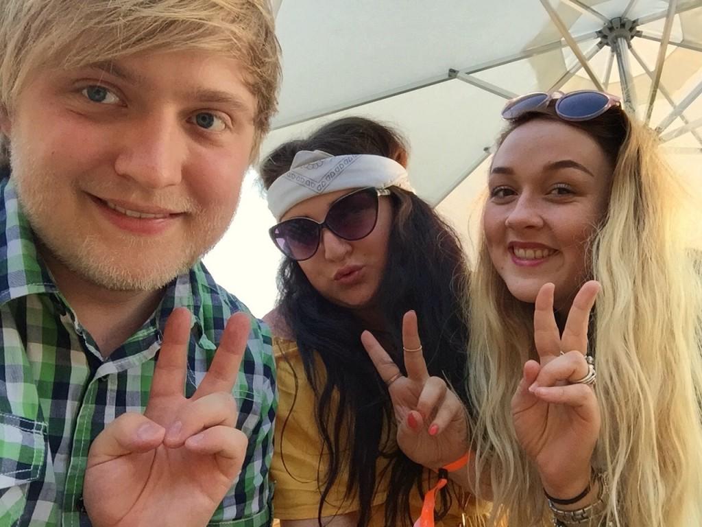 Typical festival selfie