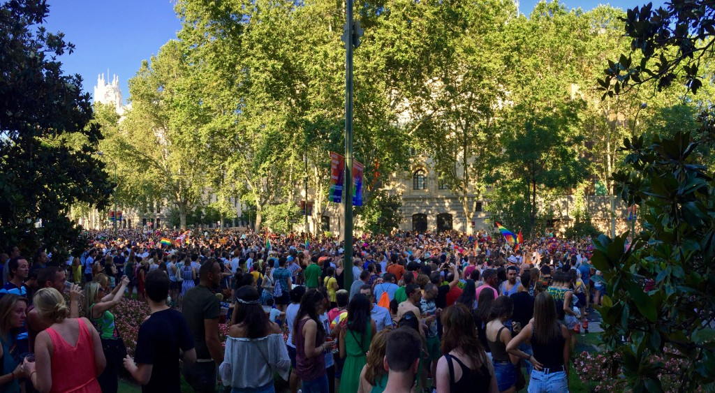 Paseo de la Castillana during Pride