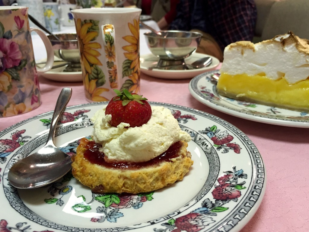 Scones and afternoon tea