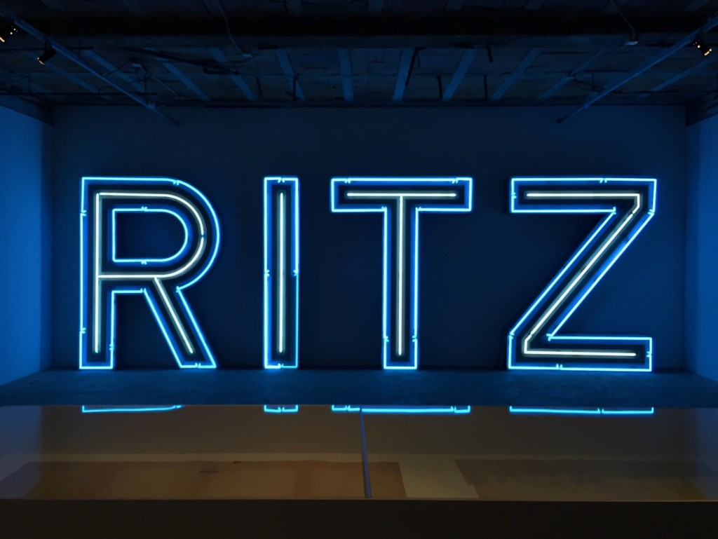 The original sign from the Ritz hotel