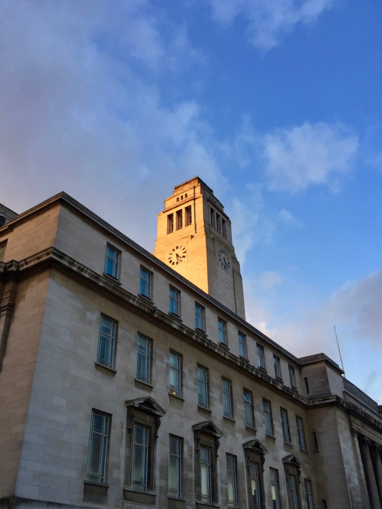 The Parkinson Building in the setting sun