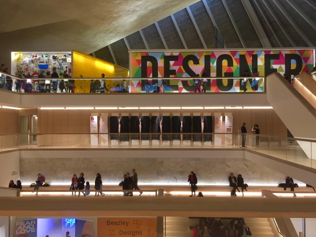 The interior of the Design Museum