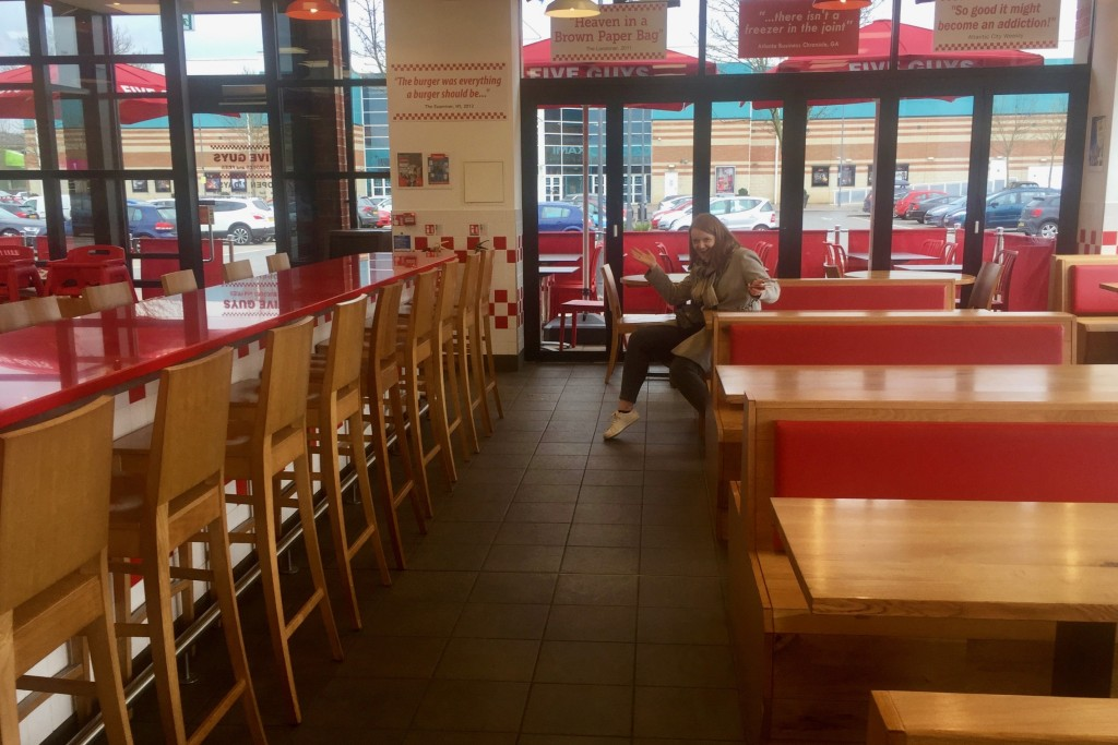 Chilling in Five Guys