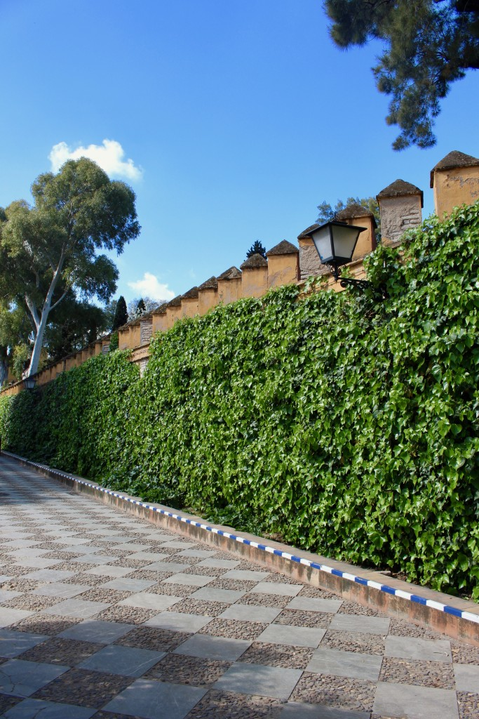 Strolling through the tiled gardens