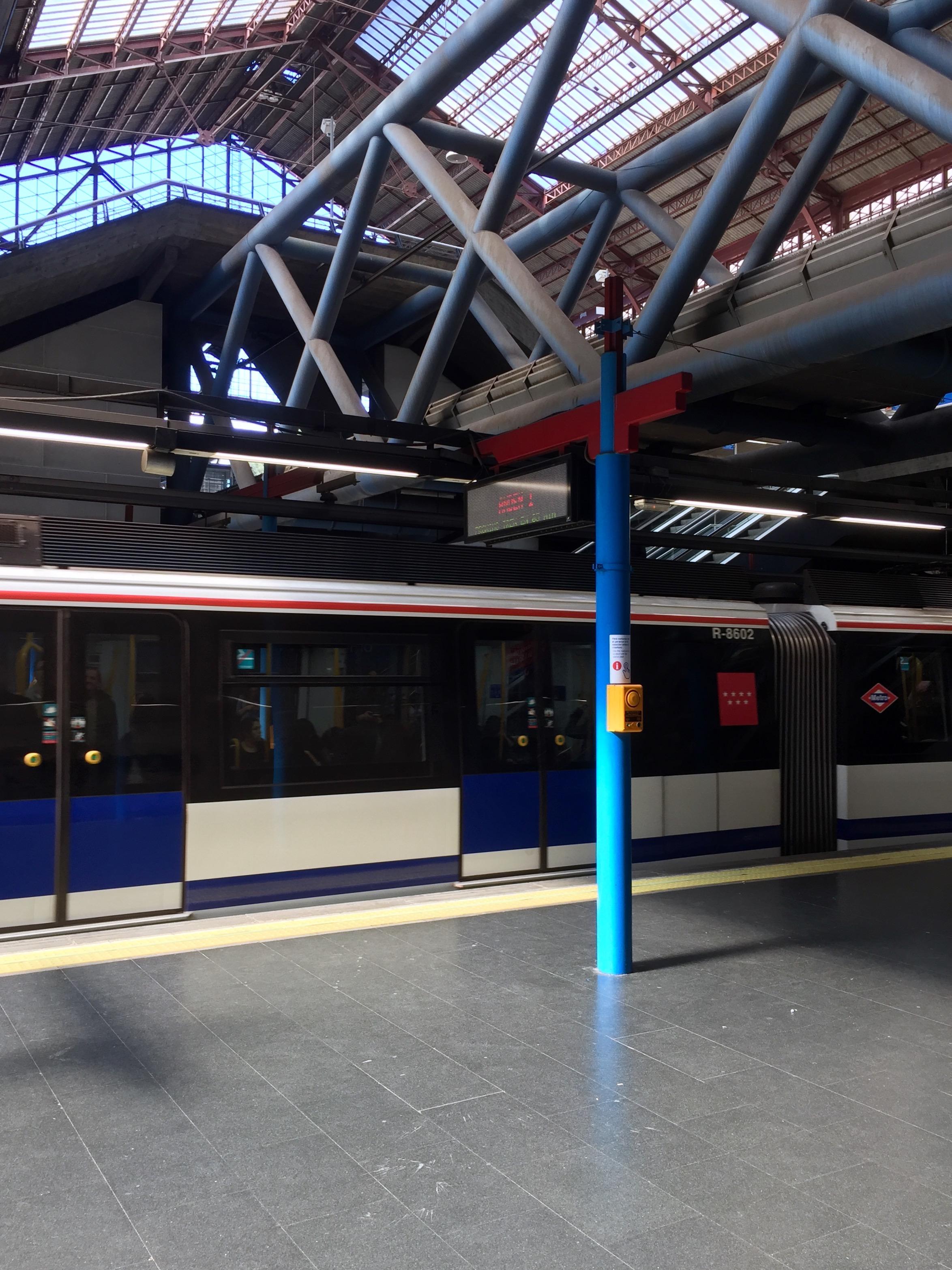 The familiar Metro stop of Príncipe Pío