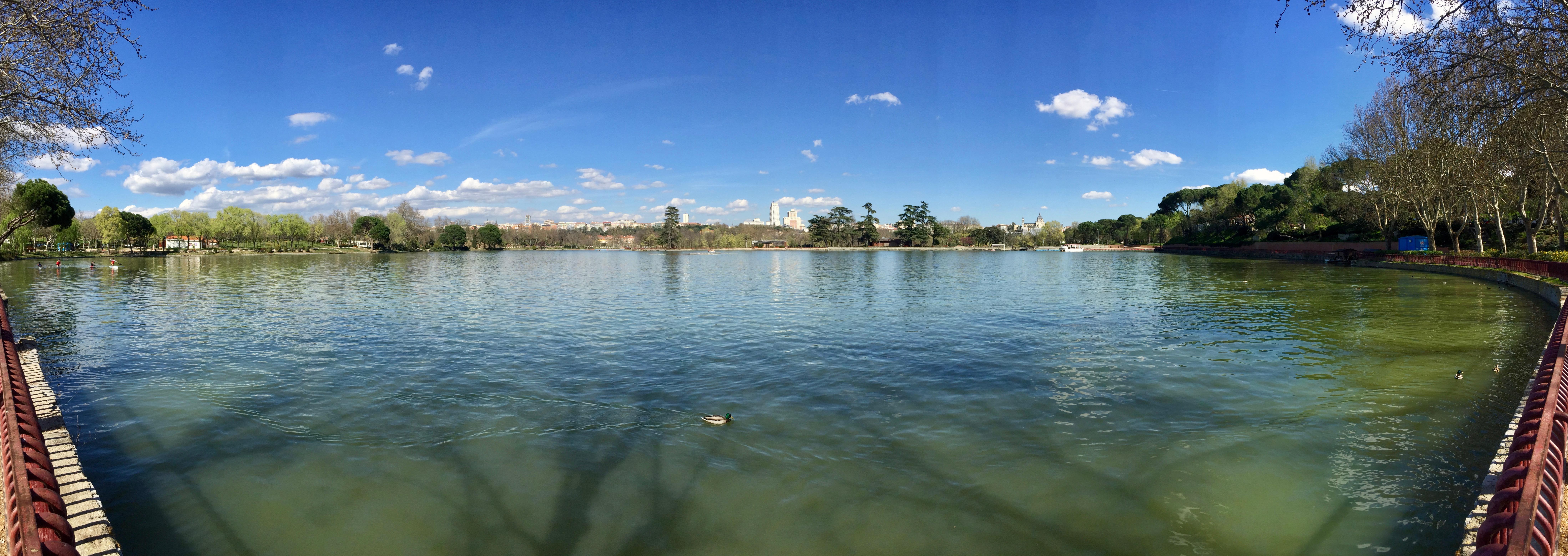 A panorama across the lake