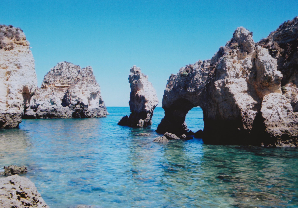 The arches of the grottos